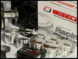 Bbc Chevy 496 Wiseco Forged Pistons Rings 4 320 070 Over 20cc Dome Kp441a7