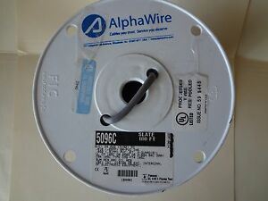 Alphawire Cable 5096c 20awg 3c Shield 100ft Spool Slate