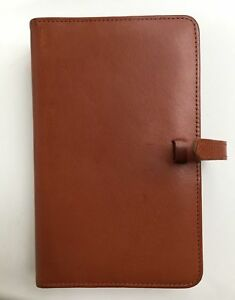 Coach Vintage British Tan Leather Planner 6 ring Personal Size Unused filofax