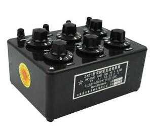 Zx21 Precision Variable Decade Resistor Resistance Box 0 1r To 99 9999kr