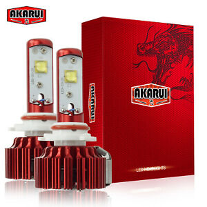 Akarui 9006 Led Headlight Kit 6000k White Bulbs Cree Xhp70 2 year Warranty Pair