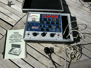 Eico Model 635 Tube Tester With Manuals