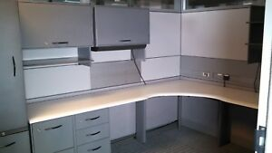 15 Steelcase Cubicles With Glass Smaller Quantities Available