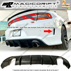 For 15 19 Dodge Charger Srt Scat Pack Mdp Style Rear Bumper Lower Diffuser Lip