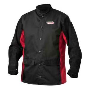Lincoln Electric Large K2986 Shadow Split Leather Sleeved Jacket