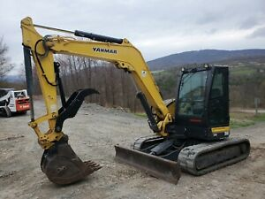 2014 Yanmar Vio35 Excavator Hydraulic Thumb Cab Heat Air Only 694 Hours Finance