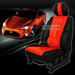 Universal Sports Bucket Seat Cushion Cover Leather Red 1 Seat For All Vehicle