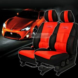 Universal Sports Bucket Seat Cushion Cover Leather Red 2 Seat For All Vehicle