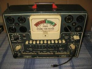 Jackson Model 115 Dynamic Tube Tester Power Light On Needle Moves Selling As Is