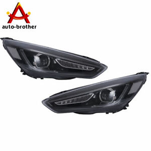 Headlight Head Led Drl Halo Projector Lamp Rh lh 2pcs For Focus Ford 2015 2017
