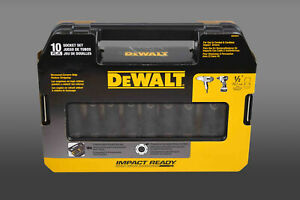 Dewalt Dw22812 Socket Set 1 2 10 Pc Impact Deep Sae