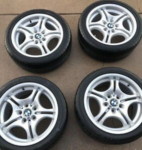 Bmw 3 Series Alloy Wheels Oe Rims 59344 59345 17 Rear Front Set Of 4 Style 68