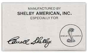 Shelby Made For Plaque