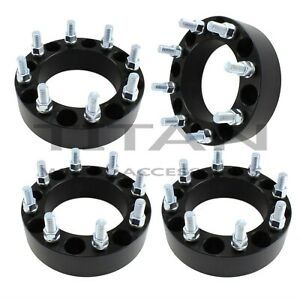 4 2 8x180 Black Wheel Spacers For Chevy Gmc 2500 3500 Hd 2011 2018 Forged
