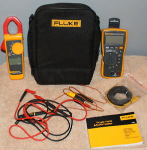Fluke Combo Kit 116 323 Multimeter Clamp Meter W leads Case Manual