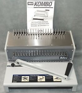 Ibico Kombo Heavy Duty Plastic Comb Punch Binder Binding Machine W box Papers