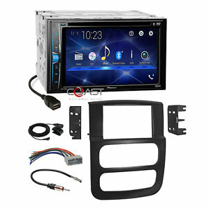Pioneer 2018 Dvd Usb Bluetooth Stereo Dash Kit Wire Harness For 02 05 Dodge Ram