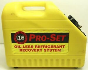 Cps Pro set Cr500 Oil less Refrigerant Recovery System Free Shipping