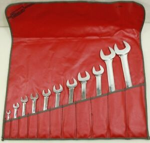 Snap On 11pc Metric Set 6 32mm Open End Wrench Set c 116b Free Shipping
