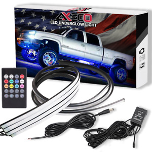 36 48 Rgb Led Light Strips Car Truck Underbody Under Glow Neon Tube System Kit