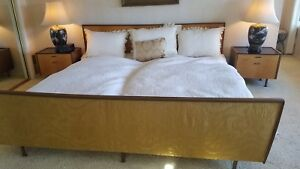 Vintage Mid Century Moden King Bed Set With 2 Nite Stands Knippenberg Germany