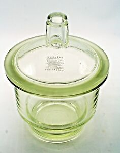 Pyrex Lab Ware Knob Top Dessicator Canister Storage Apothecary Glass 10 Tall