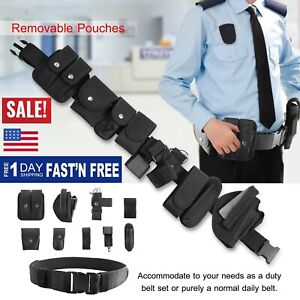 police Security Guard Modular Enforcement Equipment Duty Belt Tactical Nylon