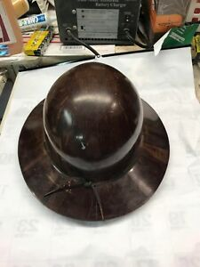 Vintage Brown Msa Skullgard Miners Safety Helmet Hard Hat Full Brim r Style