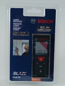 nib Bosch Glm30 100ft 30m Laser Measure Extreme Accuracy Calc Distance Area