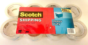 Scotch Heavy Duty Shipping Packaging Tape 1 88 Inches X 43 7 Yards 8 Rolls