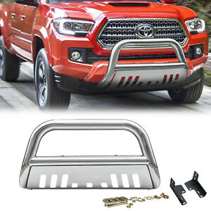 S S Front Bumper Grille Guard Bull Bar Brush Push For 2005 2014 Toyota Tacoma