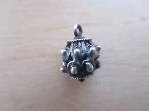 Beautiful Medieval Decoration Element Silver Button