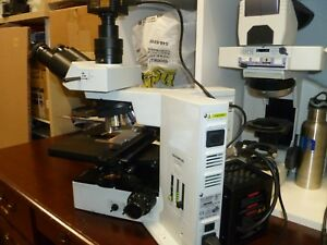 Olympus Bx50 Trinocular Microscope With 5 Mpix Camera And Software
