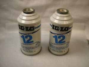 Nos Two 14oz Cans Of R 12 R12 Refrigerant Ig lo Made In Usa