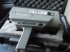Immaculate Kustom Falcon Police Radar Gun With Hard Case And 50 Mph Tuning Fork
