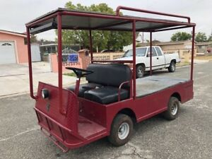 Taylor Dunn B2 48 Industrial Flatbed Electric Utility Cart Steel Cab