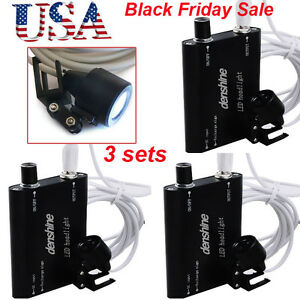 3pcs Dental Led Head Light Lamp For Dentist Surgical Loupes Portable Us Ship Fda