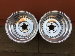 Vintage Centerline Aluminum Auto Drag 15x15 1 2 Wheels Hot Rat Rod Willys Nhra