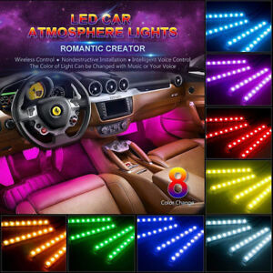 Universal Car Atmosphere Led Rgb Glow Interior Car Dash Floor Seat Accent Lights