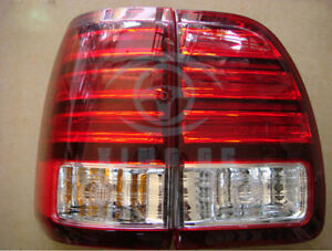 Auto Outside Led Tail Lights Rear Lamps Red White Fit For Lexus Lx470 1998 2002