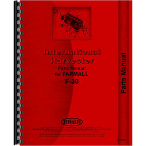New International Harvester F30 Tractor Parts Manual