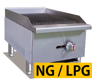 Pantin Commercial 16 Countertop Gas Radiant Grill Charbroiler Charcoal Nsf