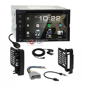 Kenwood Dvd Sirius Spotify Stereo Dash Kit Harness For 07 Chrysler Dodge Jeep
