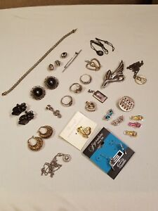 Antique Vintage Modern 925 Sterling Silver Jewelry Lot Not Scrap Nice Pieces