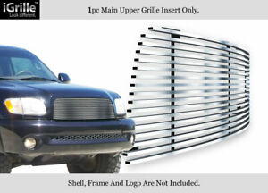 Fits 2003 2006 Toyota Tundra Main Upper Stainless Steel Chrome Billet Grille