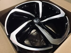Four 2018 20 Black Accord Sport Style Rims Wheels Fits Honda Sport Civic Si Hfp