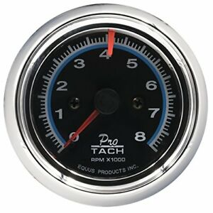 Equus 6076 Chrome Tachometer Measures 2 1 2 Inches