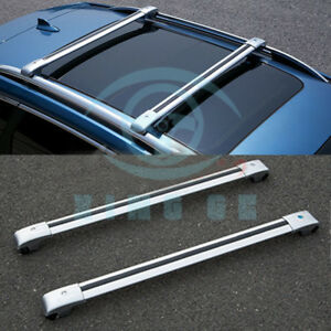 Car Roof Rack Cargo Carrier Cross Bar Upper Rack For Jeep Liberty 2004 08 Silver