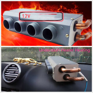 24v 4 Holes Ports Iron Compact Under Dash Heater Heat Heating Defroster Demister