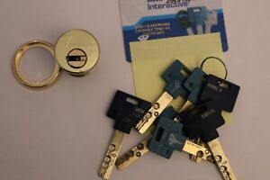 Mul t lock used good Condition Mortise 1 1 4 Cylinder With Eight Keys